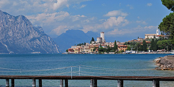 Enjoying at the Lake Garda